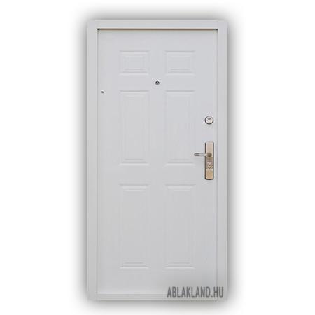 86x205 Biztonsági Ajtó, Fehér, Acélborítású, SteelSafe 24