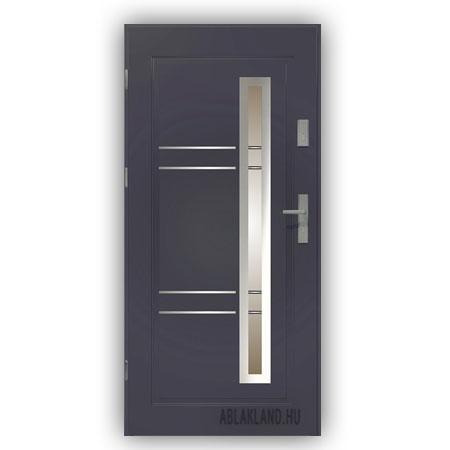 Biztonsági Ajtó, Antracit, Stopsol üveges, Kültéri, SteelSafe Premium 03