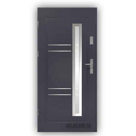 Biztonsági Ajtó, Antracit, Homokfúvott üveges, Kültéri, SteelSafe Premium 04