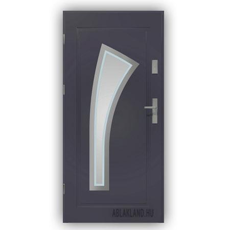 Biztonsági Ajtó, Antracit, Homokfúvott üveges, Kültéri, SteelSafe Premium 10