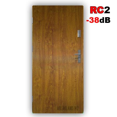 Biztonsági Ajtó, RC2 osztály, Akusztik, Aranytölgy, Tele, Kültéri, SteelSafe Premium 55