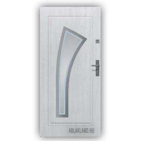 Biztonsági Ajtó, Fehér, Homokfúvott üveges, Kültéri, SteelSafe Premium 10