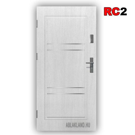 Biztonsági Ajtó, RC2 osztály, Fehér, Tele, Kültéri, SteelSafe Premium 54