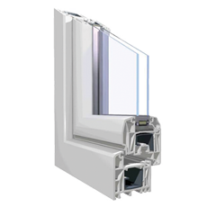 120x150 Műanyag ablak, Egyszárnyú, Fix, Cast.E