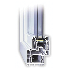 150x210 Műanyag ablak vagy ajtó, Kétszárnyú, Bukó/Nyíló+Nyíló, Cast.C