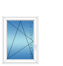 90x120 Műanyag ablak, Egyszárnyú, Bukó/Nyíló, Neo