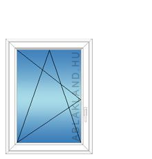 90x120 Műanyag ablak, Egyszárnyú, Bukó/Nyíló, Cast.C