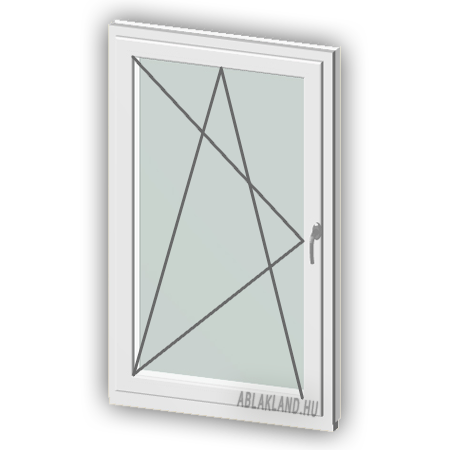 130x160 Műanyag ablak, Egyszárnyú, Bukó/Nyíló, Neo Iso
