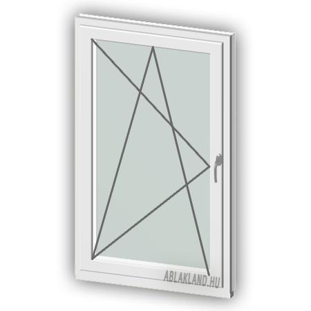 130x160 Műanyag ablak, Egyszárnyú, Bukó/Nyíló, Neo80