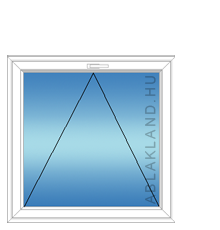 100x160 Műanyag ablak, Egyszárnyú, Bukó, Force