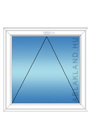90x150 Műanyag ablak, Egyszárnyú, Bukó, Force+