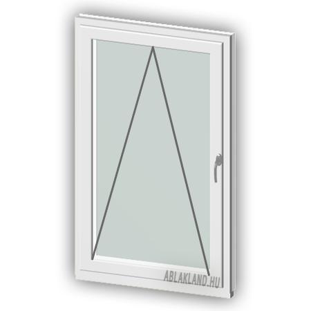 90x120 Műanyag ablak, Egyszárnyú, Bukó, Force+