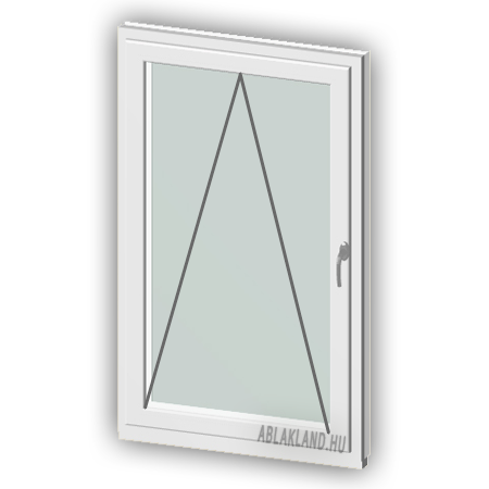 90x120 Műanyag ablak, Egyszárnyú, Bukó, Cast.C
