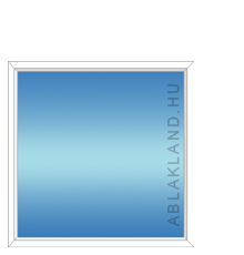 90x120 Műanyag ablak, Egyszárnyú, Fix, Neo