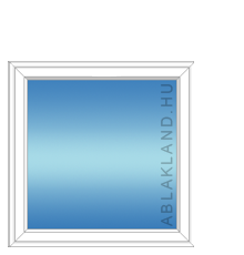 120x150 Műanyag ablak, Egyszárnyú, Fix Ablakszárnyban, Cast.E