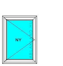 90x120 Műanyag ablak, Egyszárnyú, Nyíló, Force+