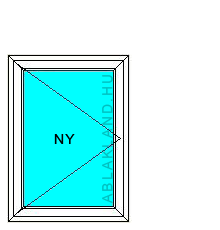50x50 Műanyag ablak, Egyszárnyú, Nyíló, Force+