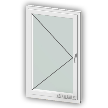 90x130 Műanyag ablak, Egyszárnyú, Nyíló, Force