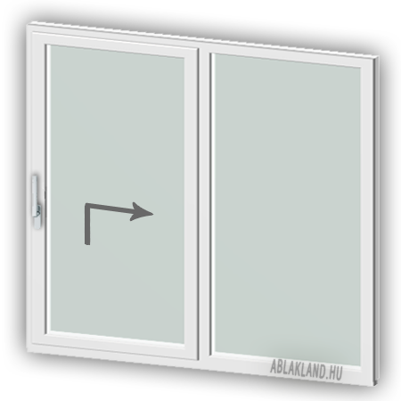 220x240 Műanyag Emelő-Toló ajtó, Kétszárnyú, Toló+Fix, BelgWin