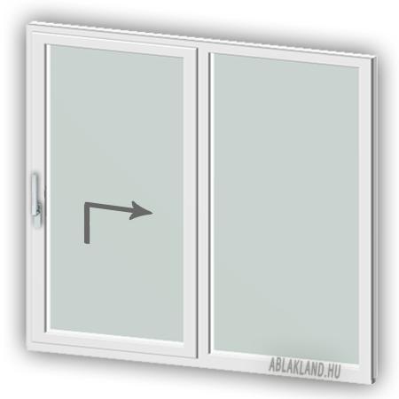 300x240 Műanyag Emelő-Toló ajtó, Kétszárnyú, Toló+Fix, BelgWin
