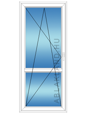 100x210 Műanyag erkélyajtó, Egyszárnyú, Bukó/Nyíló, Neo80