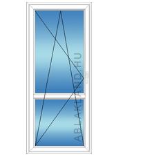 100x220 Műanyag erkélyajtó, Egyszárnyú, Bukó/Nyíló, Neo80