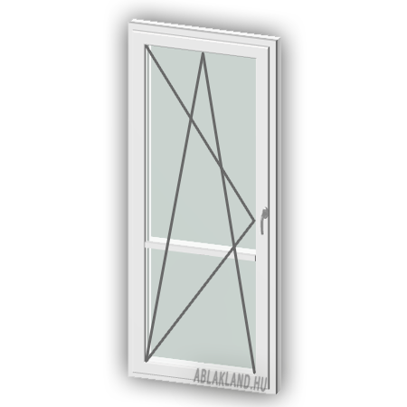 100x210 Erkélyajtó Osztóval, Bukó/Nyíló, Force+