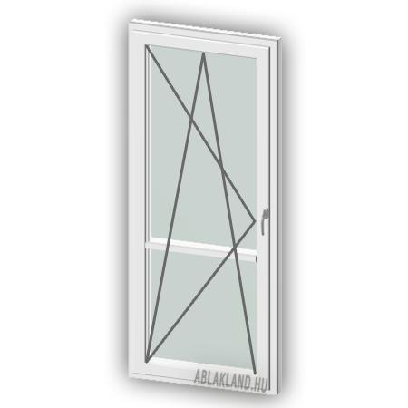110x210 Műanyag erkélyajtó, Egyszárnyú, Bukó/Nyíló, Neo80