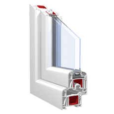 120x70 Műanyag ablak, Háromszárnyú, Nyíló+Ablaksz. Fix+B/NY, Force