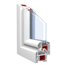 120x120 Műanyag ablak, Kétszárnyú, Fix, Force+