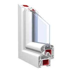 160x130 Műanyag ablak, Háromszárnyú, Nyíló+Ablaksz. Fix+B/NY, Force+