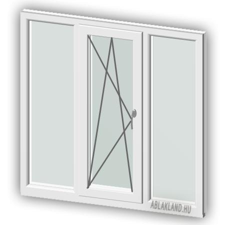 130x160 Műanyag ablak, Háromszárnyú, Fix+Bukó/Nyíló+Fix , Force