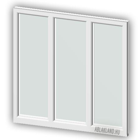 100x80 Műanyag ablak, Háromszárnyú, Fix+Fix+Fix, Neo
