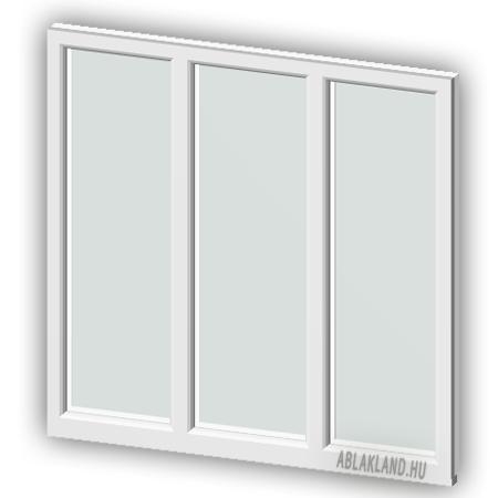 130x90 Műanyag ablak, Háromszárnyú, Fix+Fix+Fix, Neo