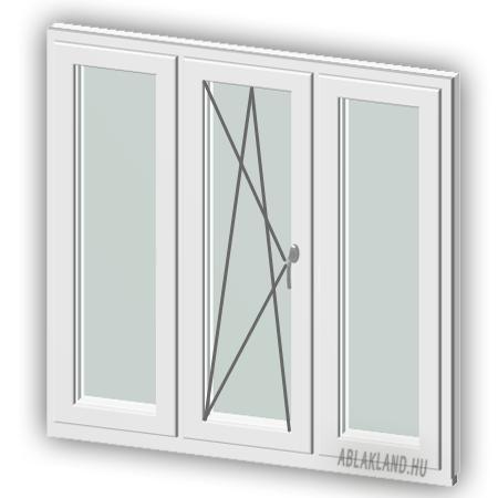 130x110 Műanyag ablak, Háromszárnyú, Ablaksz. Fix+B/NY+Ablaksz. Fix, Neo