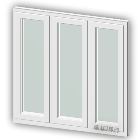 150x230 Műanyag ablak vagy ajtó, Háromszárnyú, Ablaksz. Fix+Fix+Fix, Force+