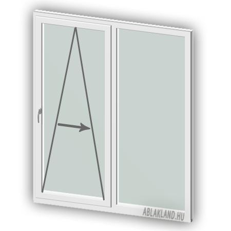 170x120 Műanyag ablak, Kétszárnyú, Toló+Fix, Force+
