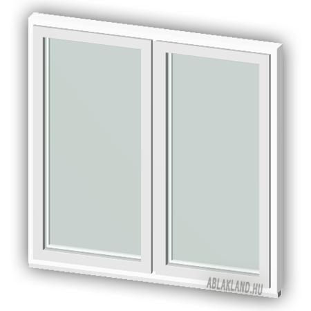 110x70 Műanyag ablak, Kétszárnyú Ablakszárnyban, Fix+Fix, Neo