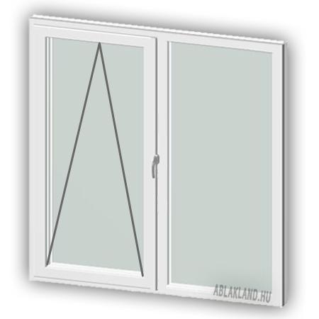 120x140 Műanyag ablak, Kétszárnyú, Bukó+Fix, Cast.E