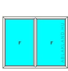 130x210 Műanyag ablak vagy ajtó, Kétszárnyú, Fix, Neo