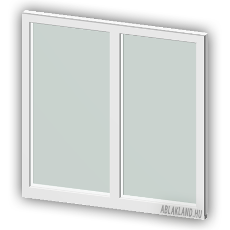 120x120 Műanyag ablak, Kétszárnyú, Fix, Cast.C