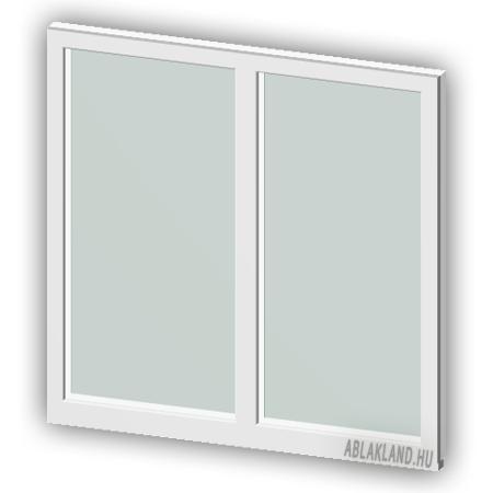 130x230 Műanyag ablak vagy ajtó, Kétszárnyú, Fix, Neo