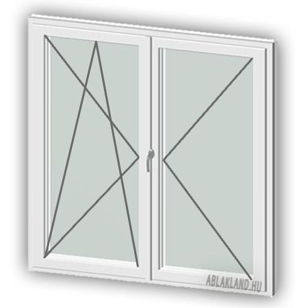 120x140 Műanyag ablak, Középen Felnyíló, Bukó/Nyíló+Nyíló, Neo80