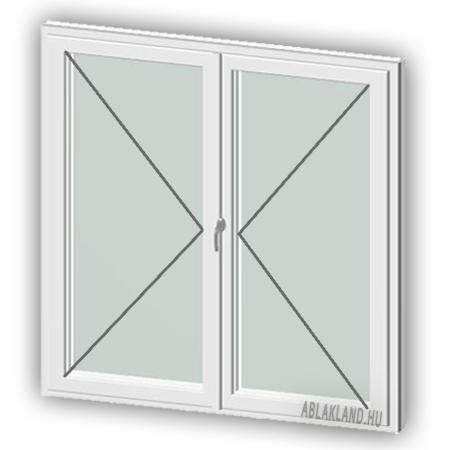 120x150 Műanyag ablak, Középen Felnyíló, Nyíló+Nyíló, Cast.E