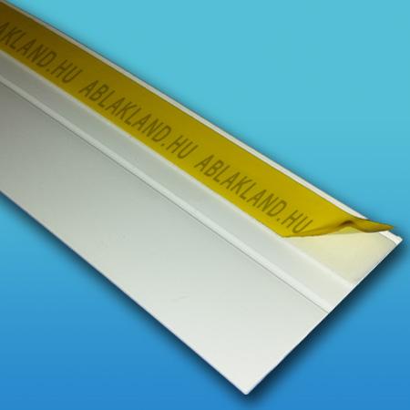 Műanyag takaróléc, Öntapadós, 70mm széles, Törhető, Fehér