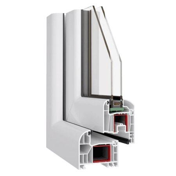 190x160 Műanyag ablak, Kétszárnyú, Bukó/Nyíló+Nyíló, Neo80