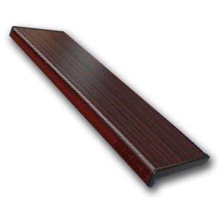 Műanyag párkány mahagóni 250mm széles