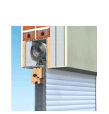 120x120 Műanyag redőny és szúnyogháló, ráépíthető tokos, Politop Duo