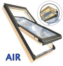 55x78 Tetőtéri ablak szellőzővel és ajándék burkolókerettel, Winlight Air