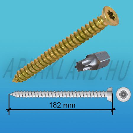 Tokrögzítő csavar 7,5mm x 182mm